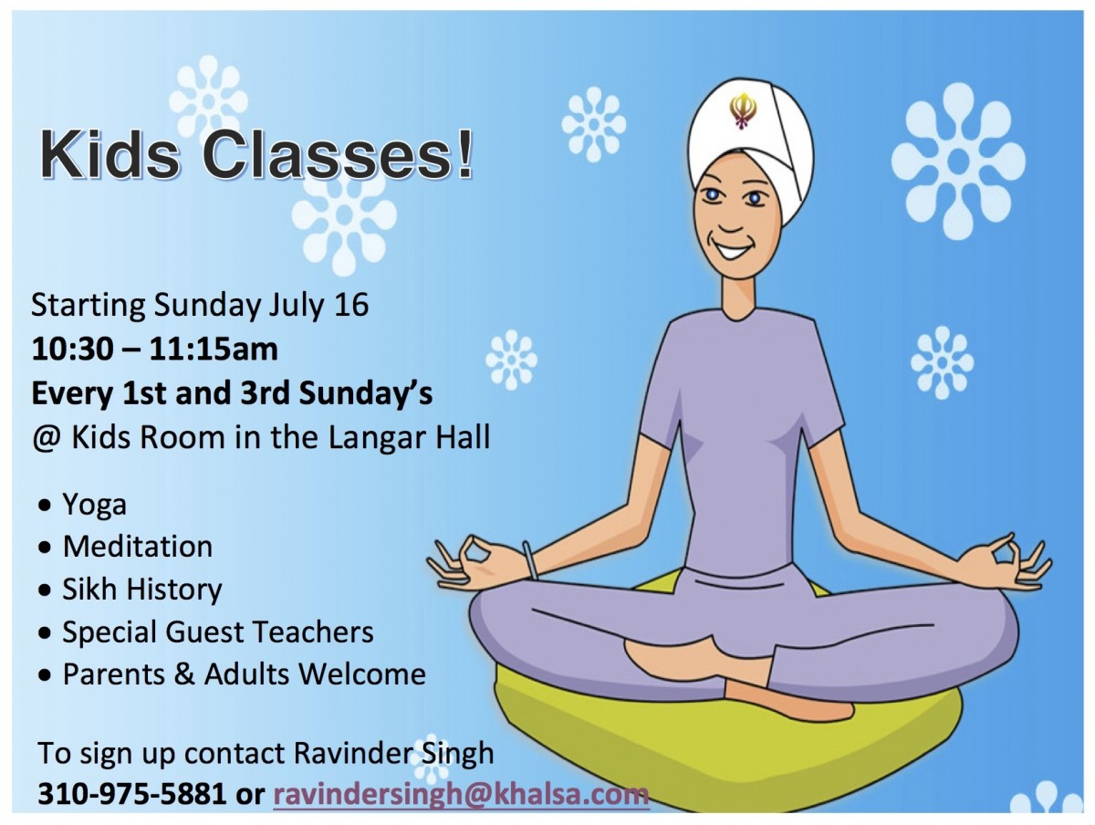Kid's Educational Gurdwara Classes