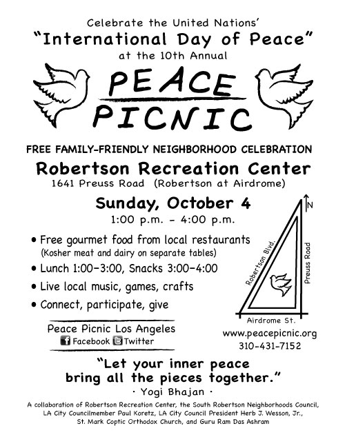 Peace Picnic Flyer